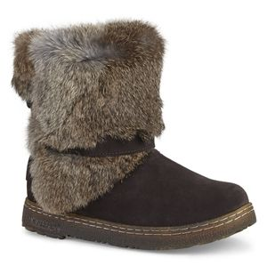 Bearpaw Marie Boots with Rabbit Fur Size 8